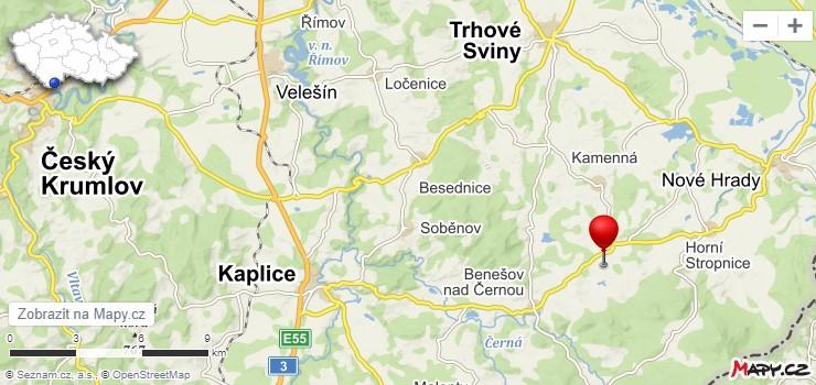 Mapa - Farma Sedmička